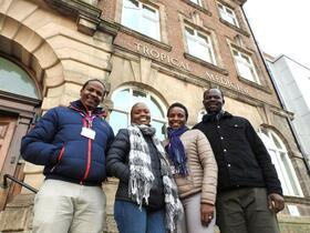From left to right: Martin Njoroge, Jacqueline Kagima, Irene Ayakaka, Stephen Mulupi