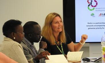 The Ugandan MoH, Dr Jane Acheng; Dr Ocero and LSTM Professor Sally Theobald