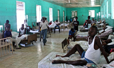 A hospital in Haiti