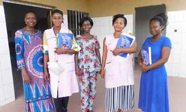 The QI team at Atakpame Regional Hospital