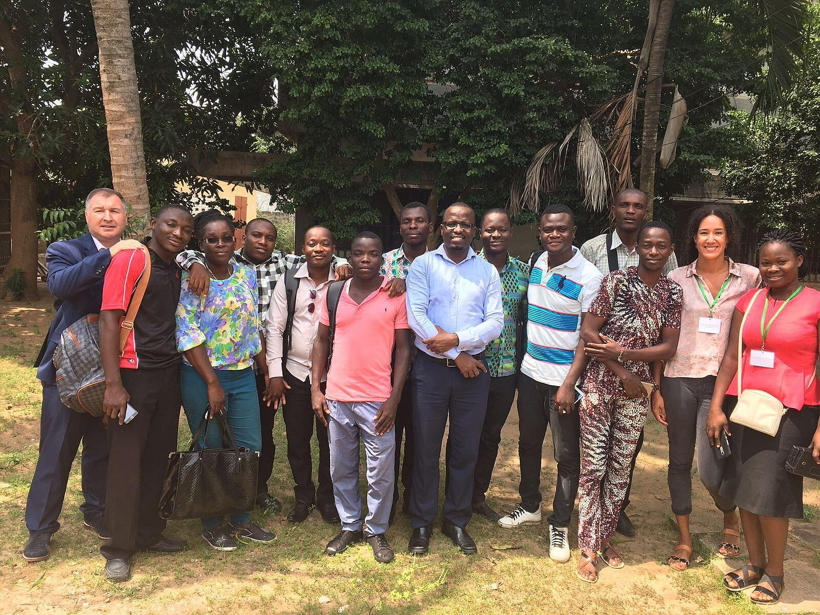 The data collection team and CMNH staff in Lomé, Togo