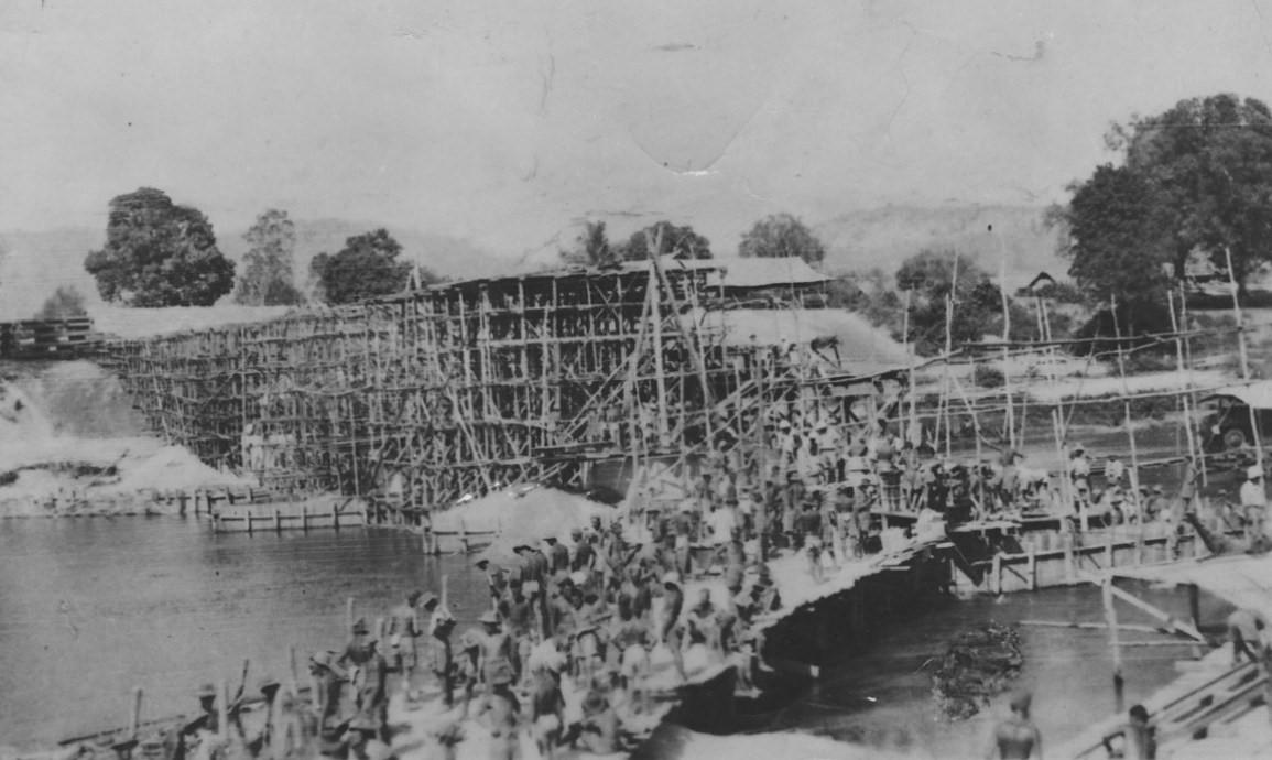 Burma railway under construction