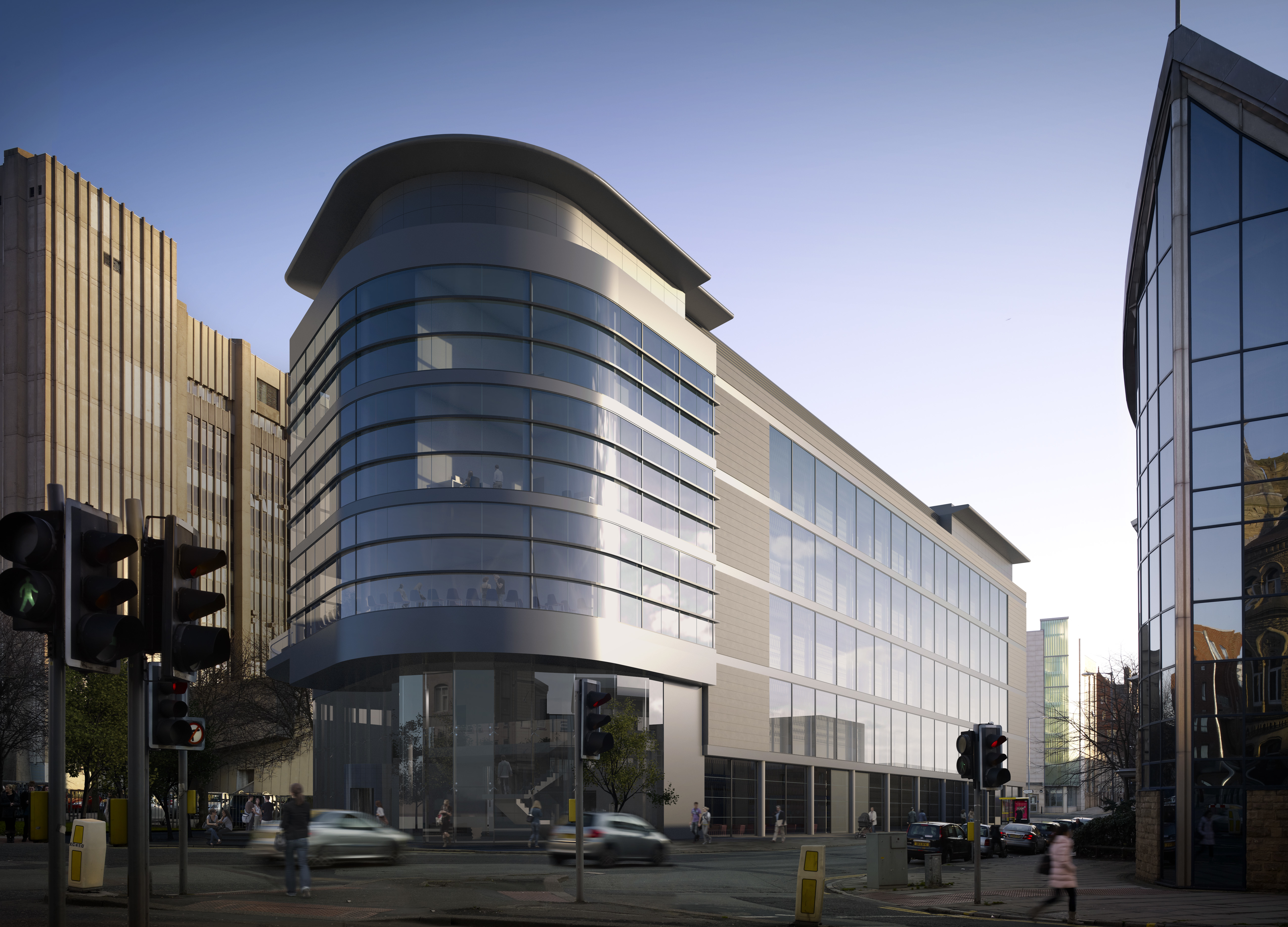 A computer generated image of the Liverpool Life Sciences Accelerator