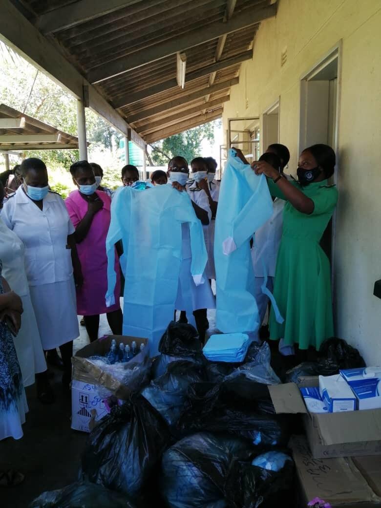 PPE donations arrive at the Mucheke Clinic in Masvingo, Zimbabwe.  Photo: Primrose Matambanadzo