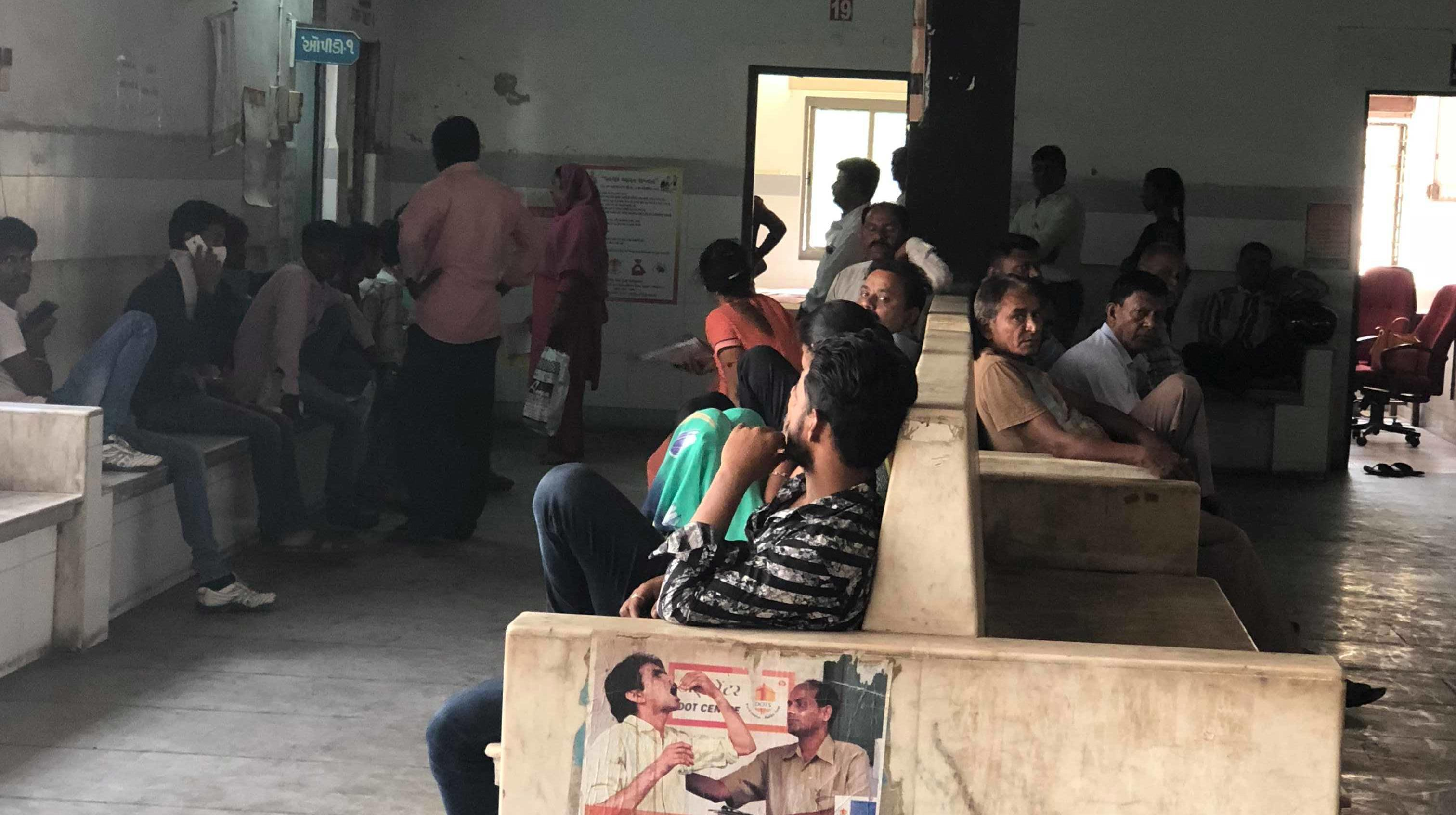 TB waiting room of a hospital in Ahmedabad, India credit Laura Rosu