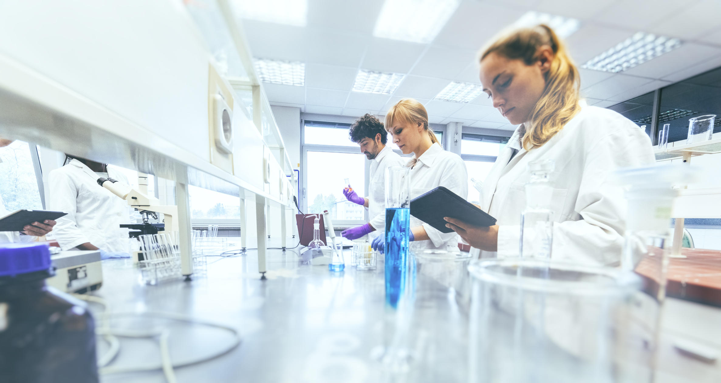 People in laboratory