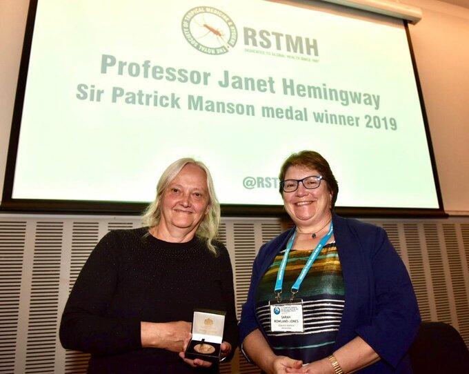 LSTM Professor Janet Hemingway and RSTMH President Dr Sarah Rowland-Jones