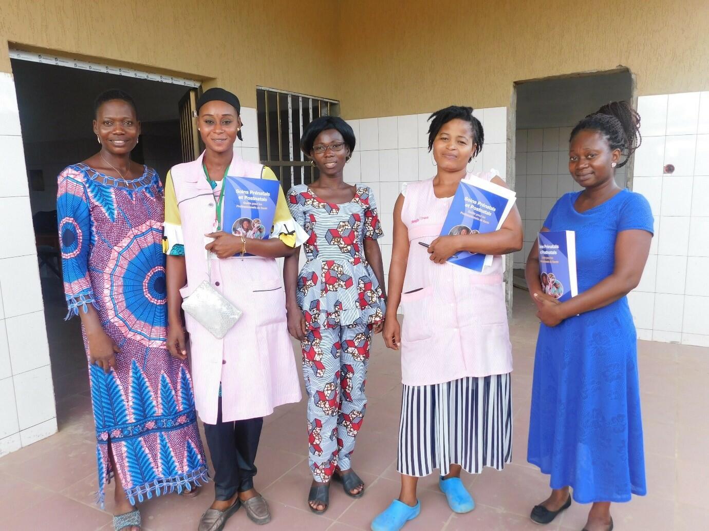 The QI team at Atakpame Regional Hospital