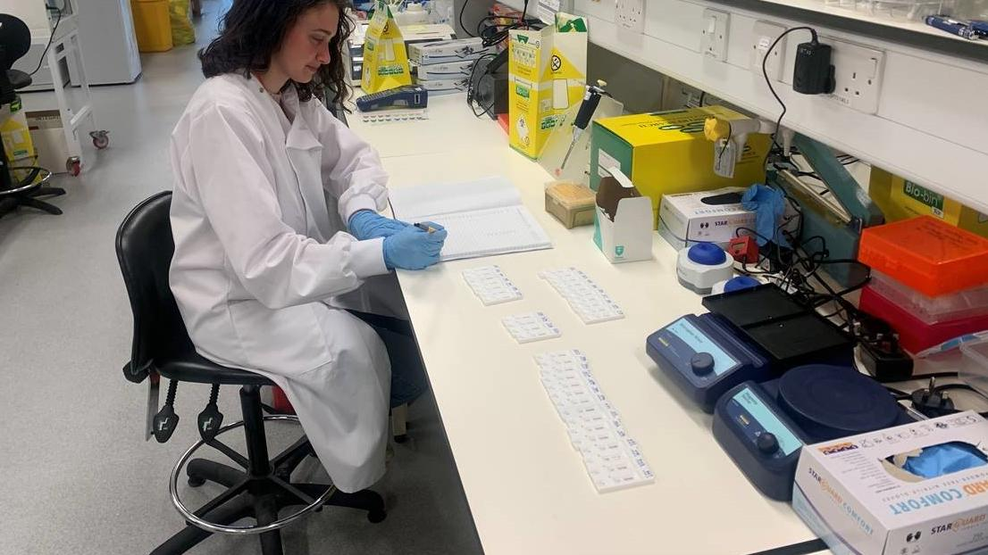 LSTM researcher Sophie is evaluating blood with different RDTs