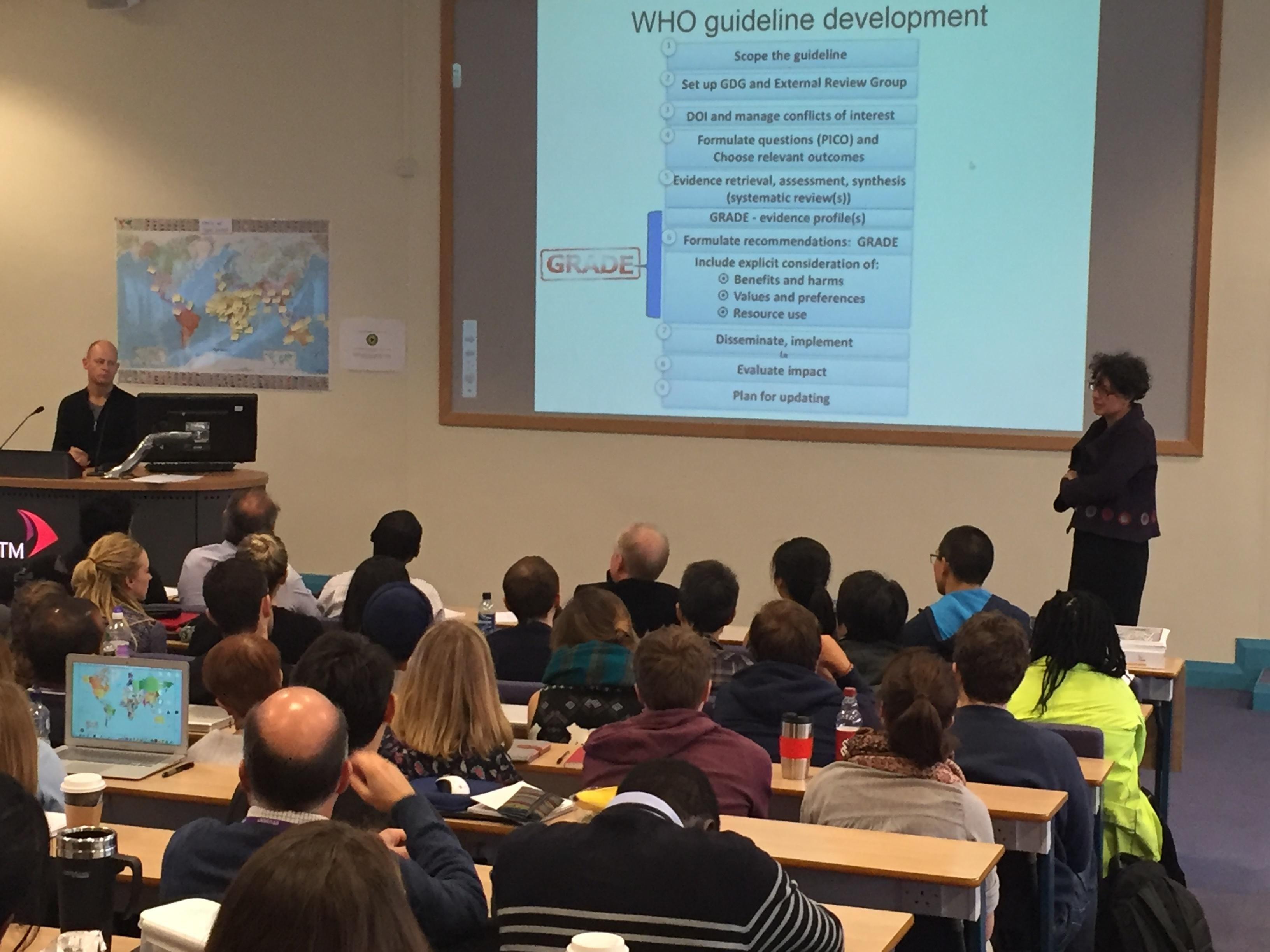 Nathan ford delivers a lecture at LSTM