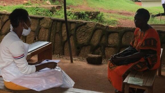 Photo: INTE-AFRICA - A patient in Uganda's Kajjansi health centre clinic.