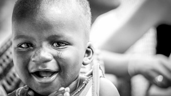 Kenyan baby smiling