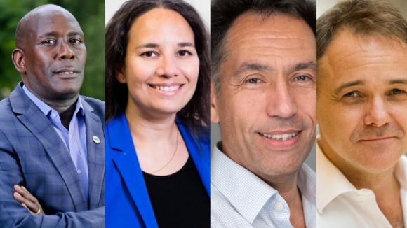 From left to right: Professor Tom Kariuki, Tamar Ghosh, Sir Jeremy Farrar and Professor David Lalloo