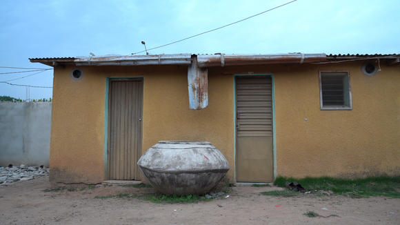 A house in one of the trial villages with screening plus EaveTubes installed. Photo: Daniel Lesher (Penn State University)