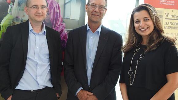 From left: Professor Mortimer, Professor Harrison, Professor Ferreria