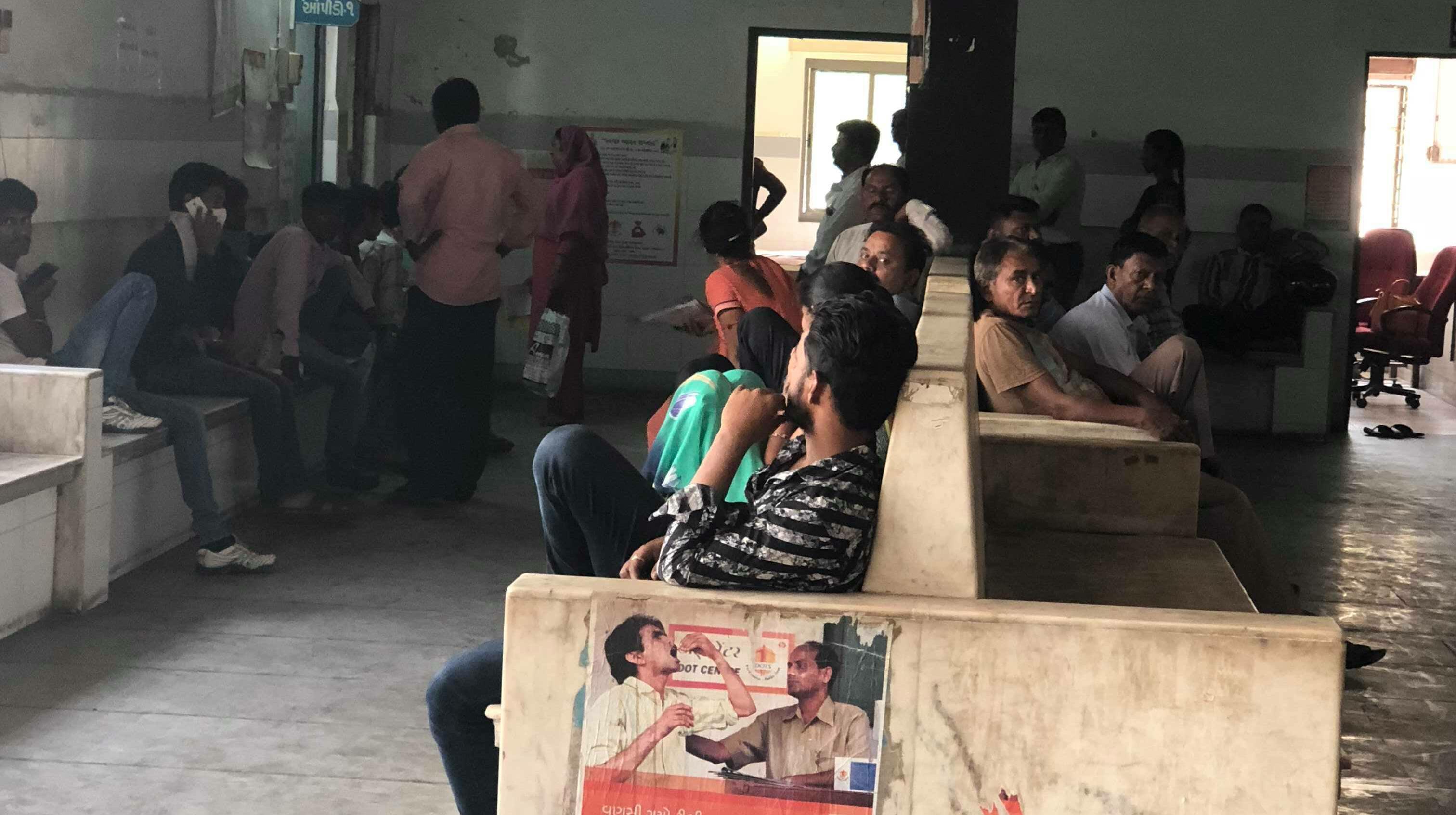 TB waiting room of a hospital in Ahmedabad, India credit Laura Rosu