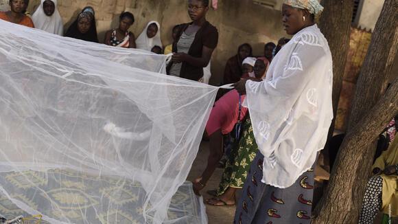 Bednet in Burkina Faso - stock photo