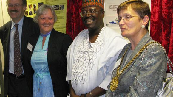 Sir Mark Walport, Janet Hemingway, Hazel Williams and Abdulsalami Nasidi