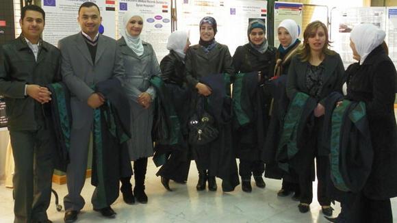 Syrian students graduating 2010